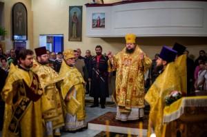 Божественная литургия. ст. Кировская.12.02.2014г.