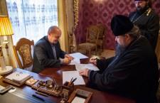 Состоялось подписание соглашения о сотрудничестве между Волгодонской епархией и филиалом ДГТУ в  г. Волгодонске