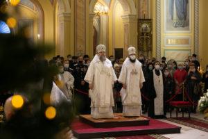 В праздник Рождества Христова Глава Донской митрополии совершил Великую вечерню в Ростовском кафедральном соборе Рождества Пресвятой Богородицы