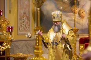 Митрополит Ростовский и Новочеркасский Меркурий совершил всенощное бдение в Ростовском кафедральном соборе