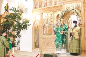 В День Святого Духа Глава Донской митрополии совершил Божественную литургию в Троицком храме Иверского женского монастыря г. Ростова-на-Дону